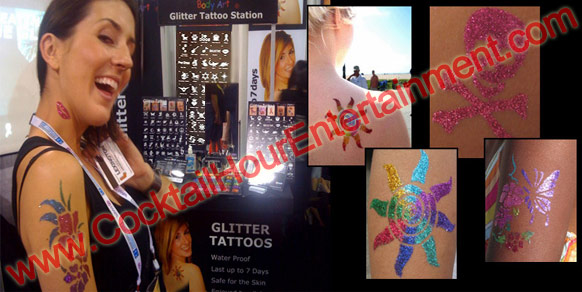 Bar Mitzvah Glitter Tattoos